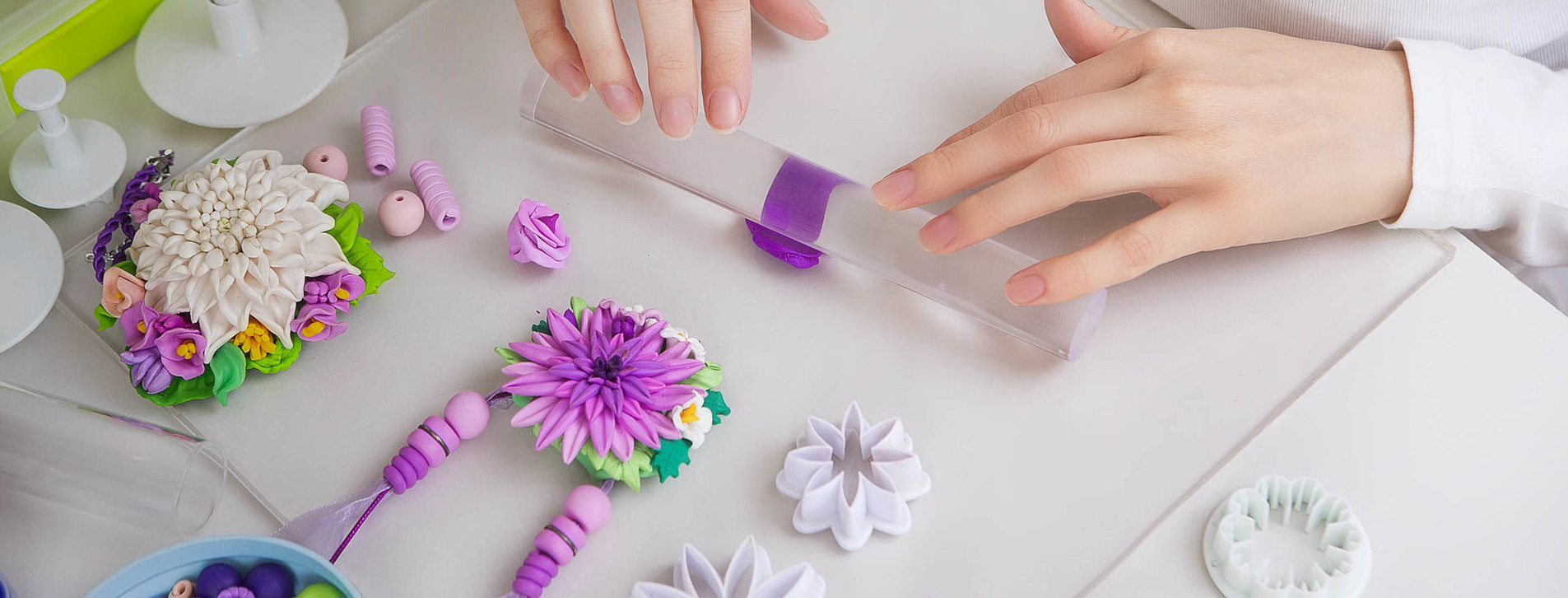 Фото - Цветы из полимерной глины